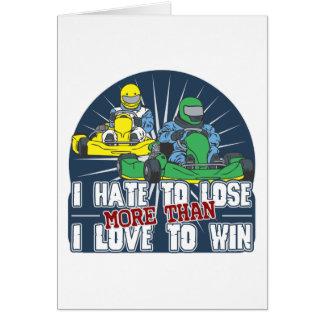 Hate to Lose Kart Card