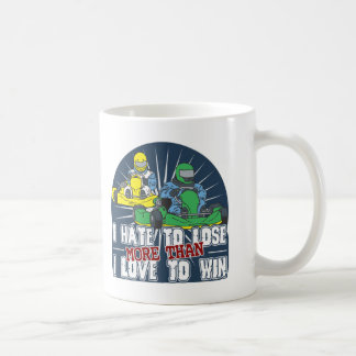 Hate to Lose Kart Coffee Mug