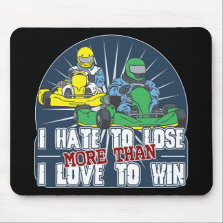Hate to Lose Kart Mousepad