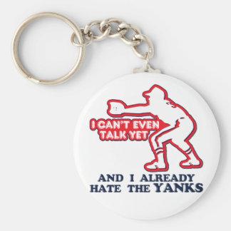 Hate Yankees Baby Key Ring