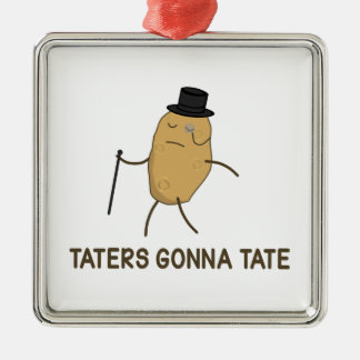 Haters Gonna Hate and Taters Gonna Tate Christmas Ornament
