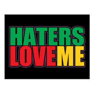 Haters Love Me Postcard