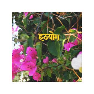 Hatha Yoga Flowers Canvas Print