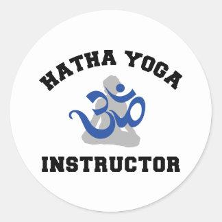 Hatha Yoga Instructor Round Sticker