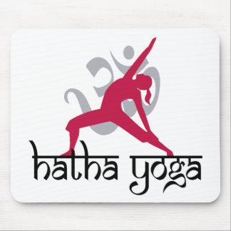 Hatha Yoga Pose Mousepads