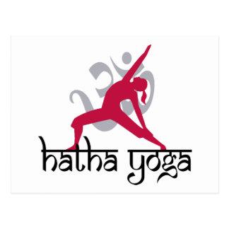 Hatha Yoga Pose Postcard