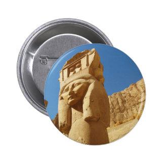 Hathor - goddess of love and music, EGYPT 6 Cm Round Badge