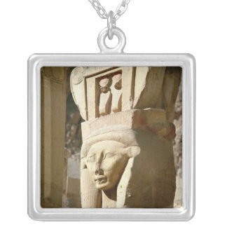 Hathor-headed column, from the Chapel of Silver Plated Necklace
