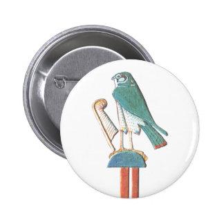 Hathor's headdress 6 cm round badge
