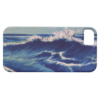 Hatō Zu Waves - Uehara Konen. Japanese Woodblock iPhone 5 Cover