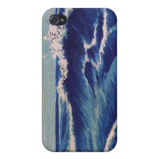 Hatō Zu Waves - Uehara Konen. Japanese Woodblock iPhone 4 Cases