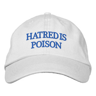Hatred is Poison Blue-Letter Hat Embroidered Cap