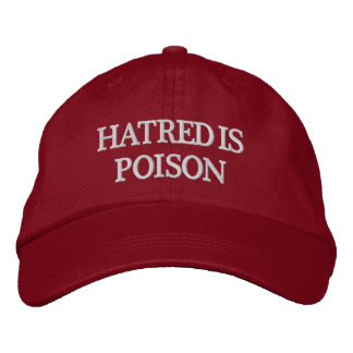 Hatred is Poison White-Letter Hat Embroidered Hat