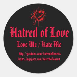Hatred of Love Round Stickers