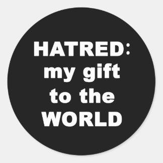 Hatred Round Stickers