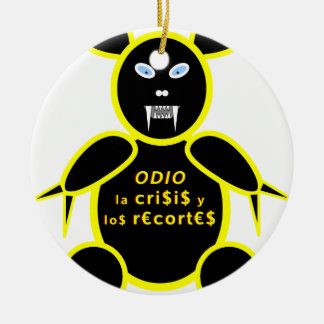 Hatred the crisis and the cuts round ceramic decoration