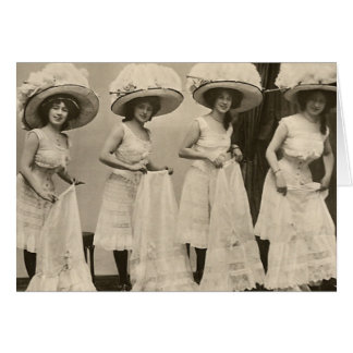 Hats and Petticoats Greeting Card