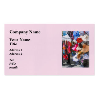 Hats and Purses at Street Fair Business Card Templates