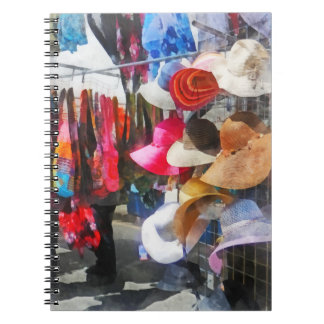 Hats and Purses at Street Fair Spiral Notebooks