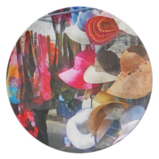 Hats and Purses at Street Fair Party Plate