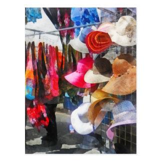 Hats and Purses at Street Fair Postcard