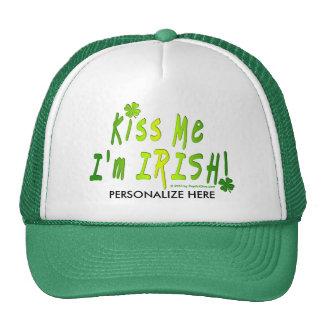 HATS, CAPS - Kiss Me, I'm IRISH Cap