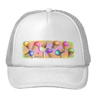 Hats, Caps - Pop Art Ice Cream Cones