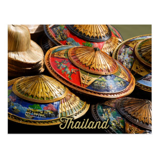hats from thailand postcard