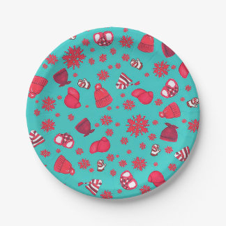 Hats 'n Snowflakes Paper Plates
