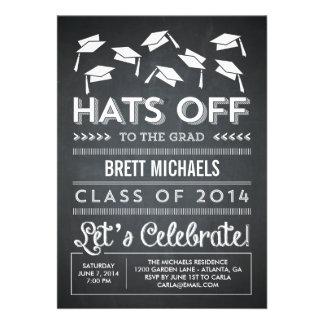 Hats Off Graduation Invitation Personalized Invites