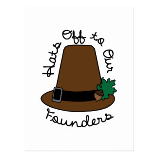 Hats Off to Our Founder Postcard