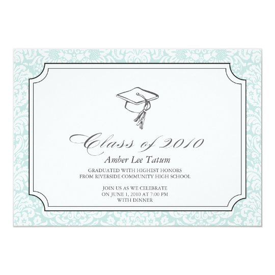 {hats off to you}  graduation invitation