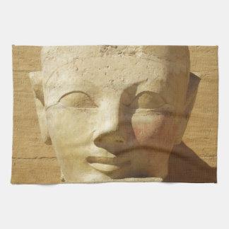 Hatshepsut Woman Egyptian pharaoh image Tea Towel