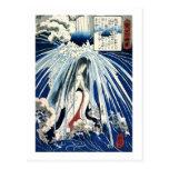 Hatsuhana under Tonosawa waterfall Post Card