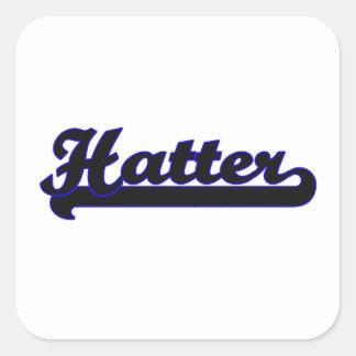 Hatter Classic Job Design Square Sticker