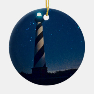 Hatteras Light. Round Ceramic Decoration