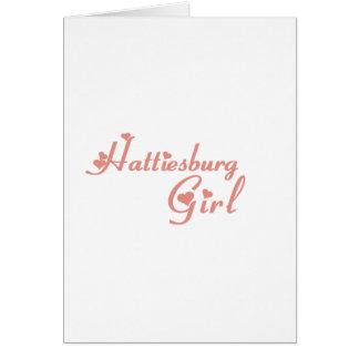 Hattiesburg Girl tee shirts Greeting Card