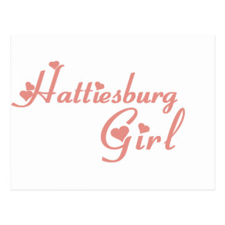 Hattiesburg Girl tee shirts Post Card
