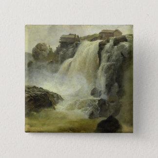 Haugfoss in Norway, 1827 15 Cm Square Badge