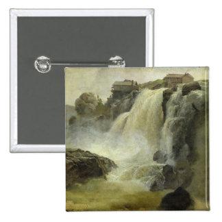 Haugfoss in Norway, 1827 Pinback Buttons