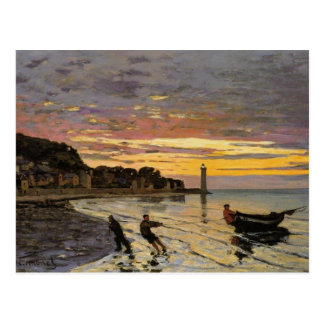 Hauling a Boat Ashore Honfleur Post Card