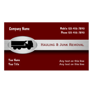 Hauling Junk Removal  Business Cards