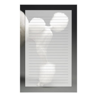 Haunches of Poodle, on grey background Custom Stationery