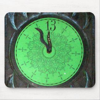 Haunted 13th Hour Clock Mousepad