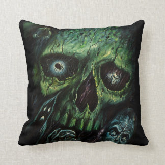 Haunted Attraction Skulls Ghosts Vintage Cushion
