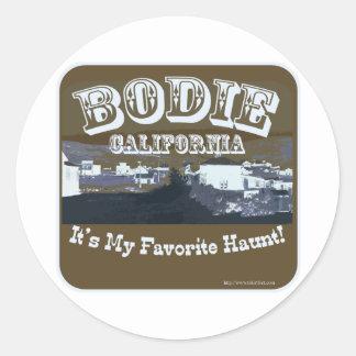 Haunted Bodie California Round Sticker