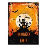 Haunted Castle Halloween Party 13 Cm X 18 Cm Invitation Card