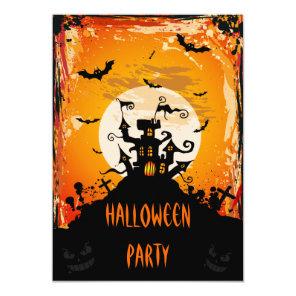 Haunted Castle Halloween Party Invitation