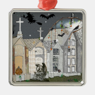 Haunted Cemetary Christmas Ornament