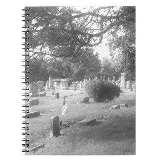 Haunted Cemetery by Bob Markin Spiral Notebooks